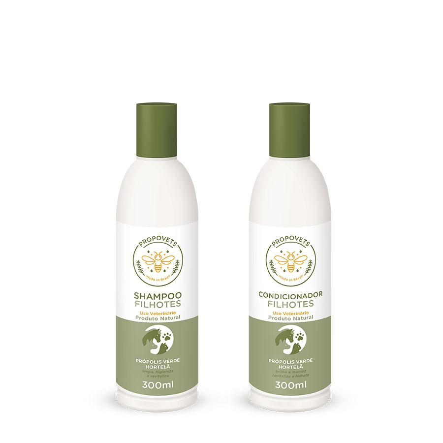 Promoção Shampoo + Condicionador Filhotes Natural PROPOVETS